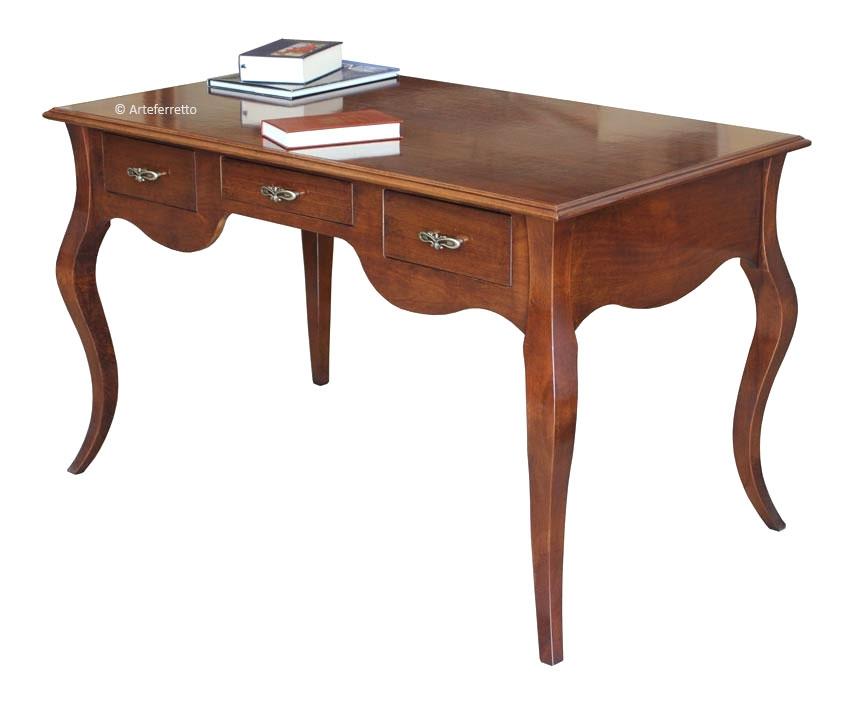 Mesa de despacho patas moldeadas y con cajones