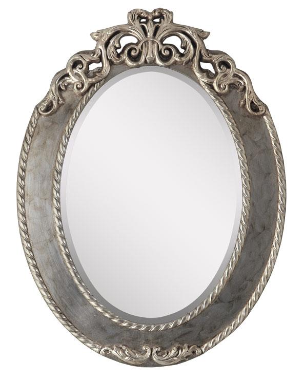 Espejo ovalado oro y plata