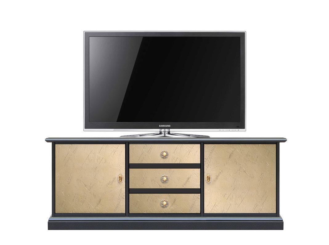 Mueble tv bicolor de madera Riace