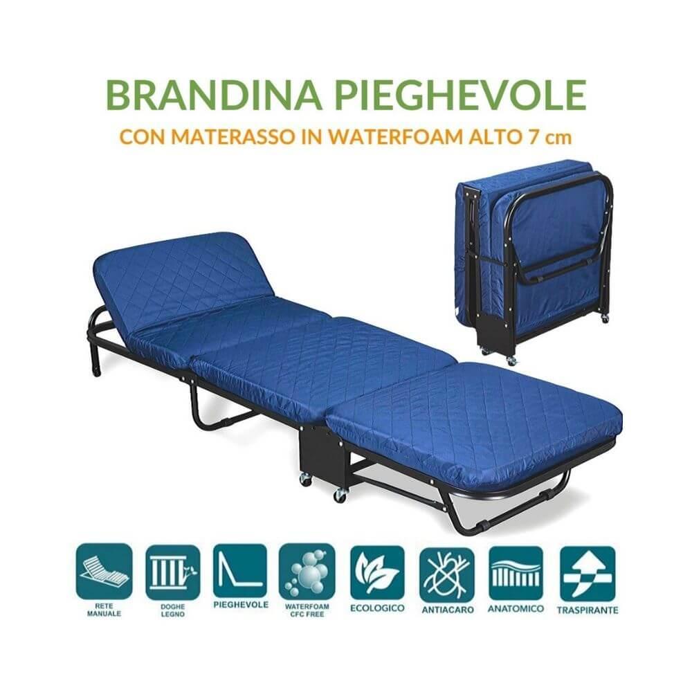 Vendita Brandina Letto Pieghevole.Brandina Pieghevole Con Materasso Waterfoam 65x190 Alto 7 Cm