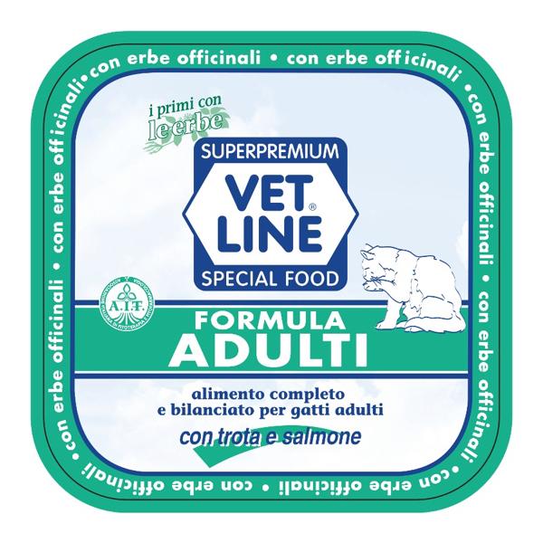 Vet Line Umido Gatto Adulti  Trota e Salmone 100 gr