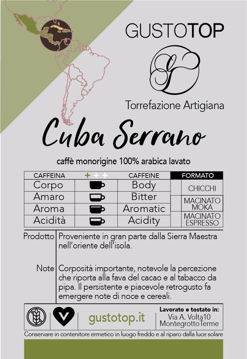 Caffè monorigine in cialda Cuba Serrano, confezione da n. 50 cialde in carta ese 44 mm compatibili