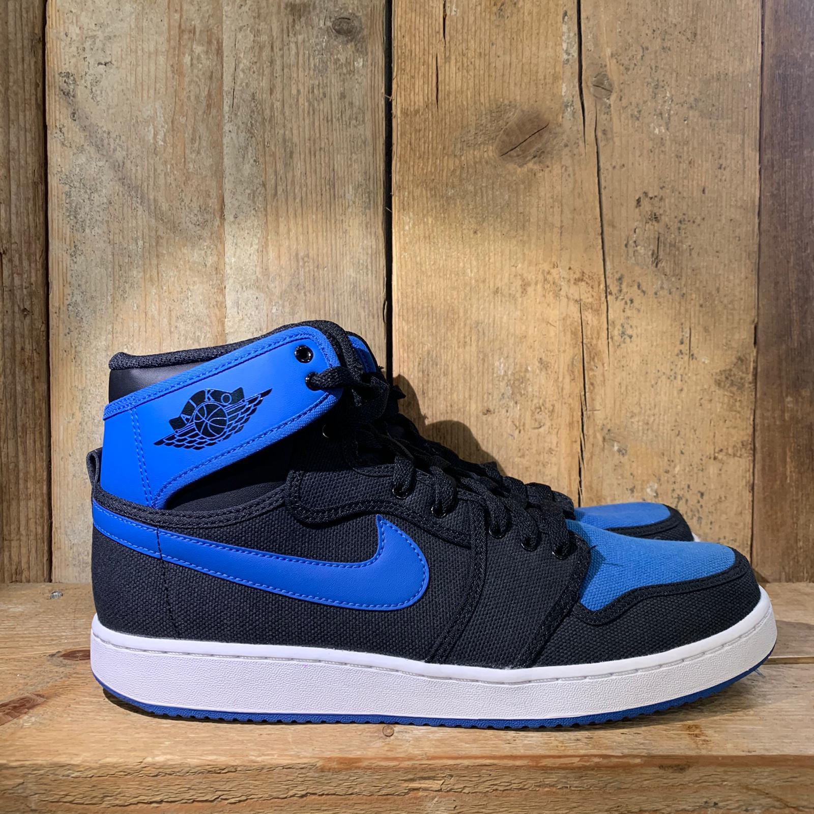 Scarpa Nike Air Jordan 1 KO Royale in Tela Nera e Blu