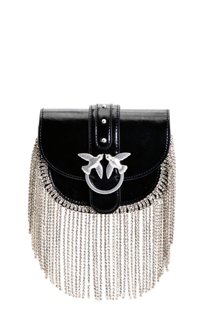 Belt Bag/Tracolla Go-Round Baby Strass Fringes Pinko SS20