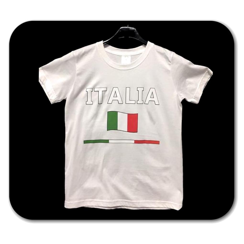 Maglietta taglia L con scritta Italia bianca