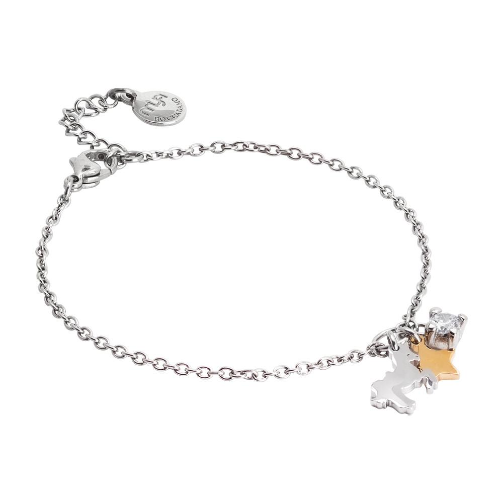 Bracciale morbido con unicorno, stella e zircone