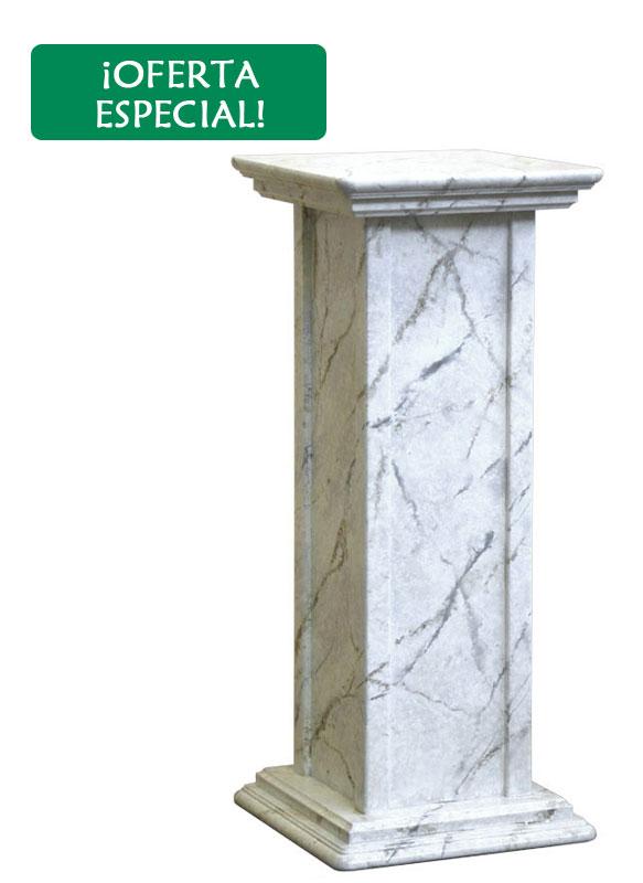Pedestal de madera acabado mármol - oferta