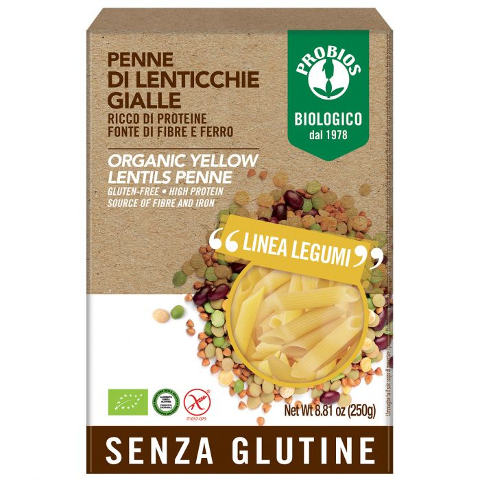 Penne 100% lenticchie gialle