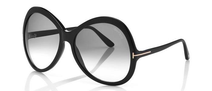 Tom Ford - Occhiale da Sole Donna, Matte Black/Grey Shaded FT0765 (01B)  C63