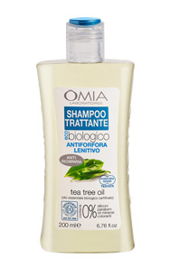 Shampoo Antiforfora Tea Tree 200 ml Omia