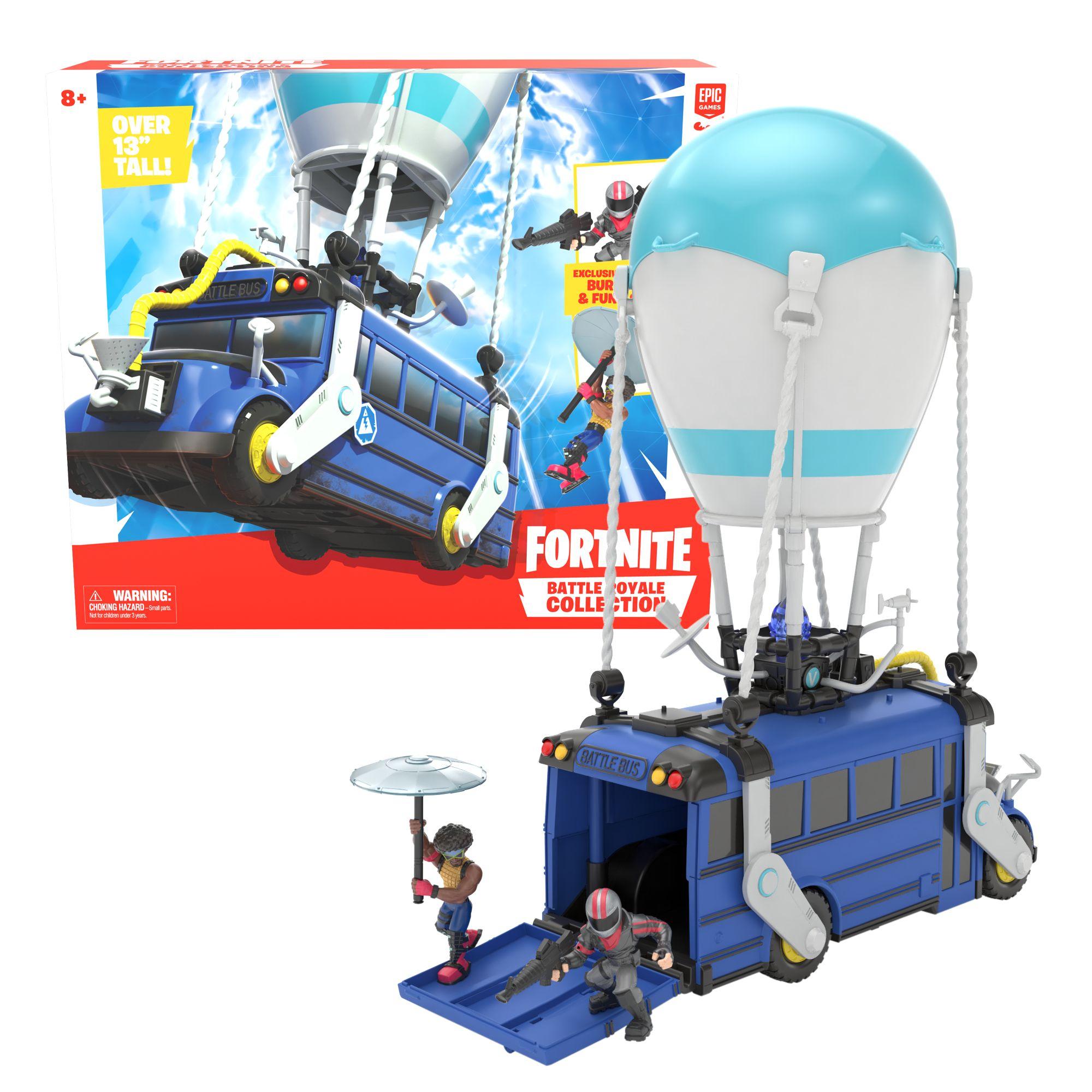 FORTNITE BATTLE BUS + 1 PERS. 5 CM. E OMBRELLO