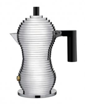 ALESSI CAFFETTIERA PULCINA 1 TAZZA MANICO NERO DESIGN MICHELE DE LUCCHI NON ADATTA INDUZIONE MDL02/1 B
