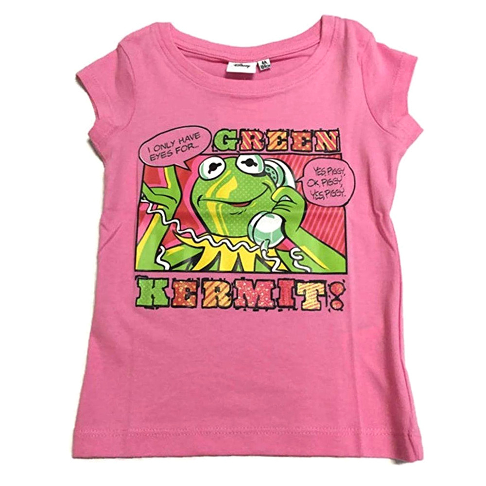 T-shirt The Muppets taglia 6 anni manica corta rosa
