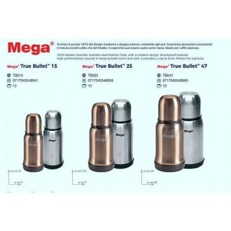 Uniflame Mega True Bullet Termos 0,47 Lt In Acciaio Grigio o Gold Bevande Riscaldate