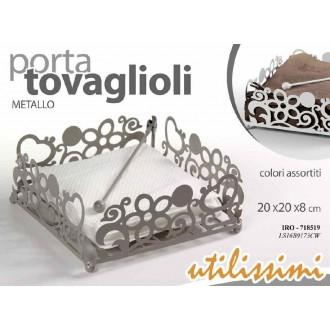 Porta Tovaglioli Metallo  20x20xH8cm