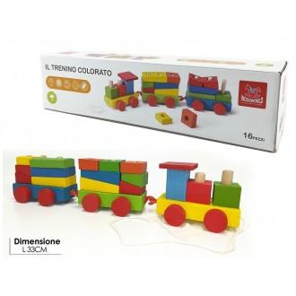 General Trade Trenino In Legno Colorato Per Bambini Giocattolo