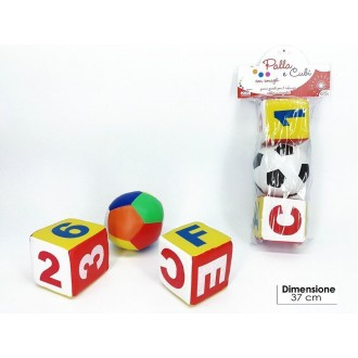 General Trade Set 1 Palla Con Due Cubi Con Sonaglio Lettere e Numeri Colorati