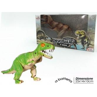 General Trade T-Rex Verde Modellino con Luci Suoni e Movimento Bambini Giocattolo