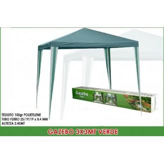 General Trade Gazebo Poly 3X3 mt Verde
