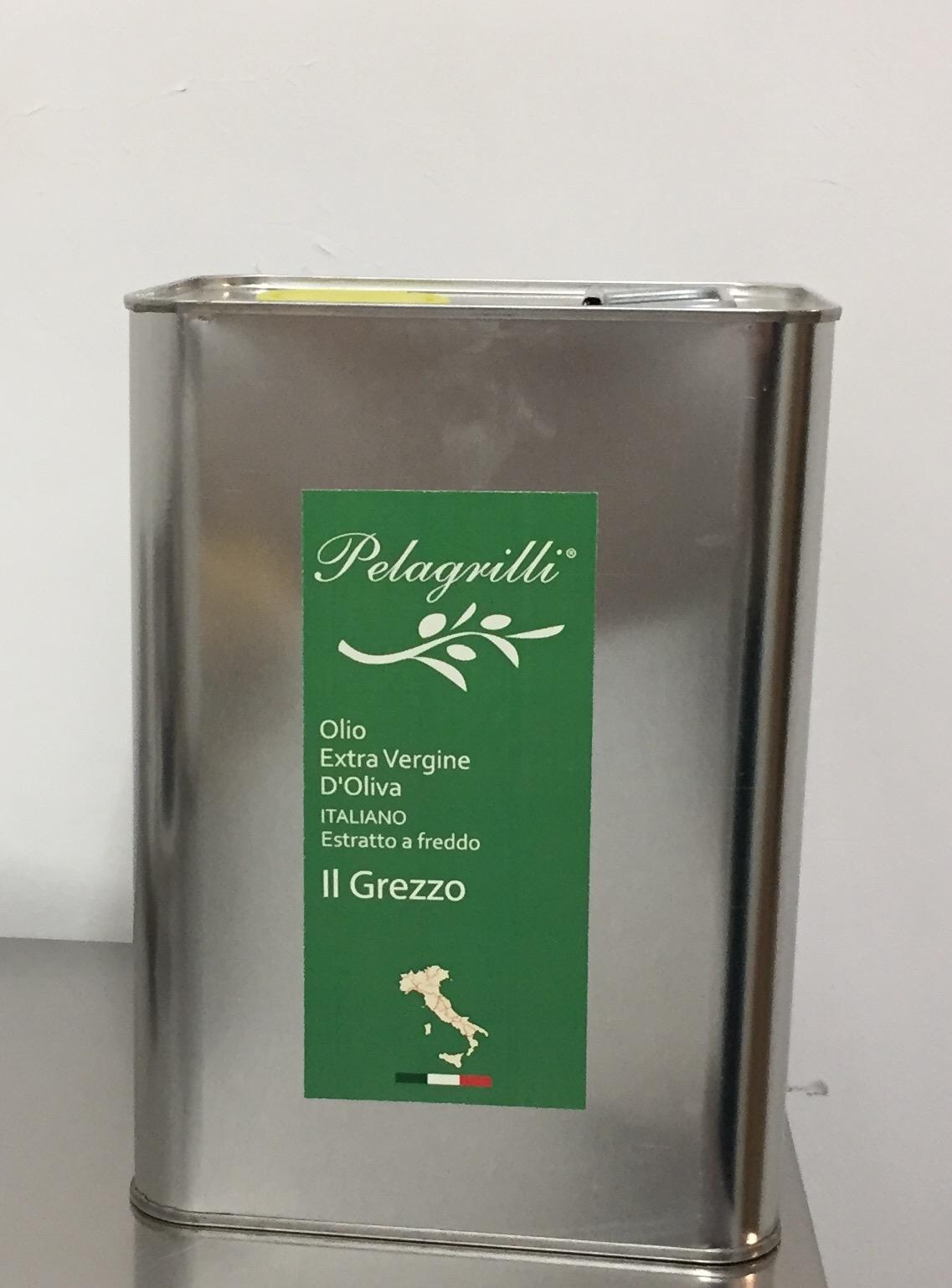ITALIANO GREZZO Nuovo Raccolto 2019-2020 olio extra vergine di oliva Italiano estratto a freddo lt. 3