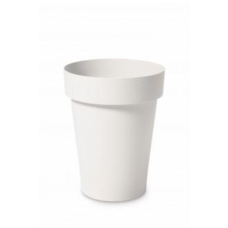 Vaso Tondo Melrose Alto Bianco