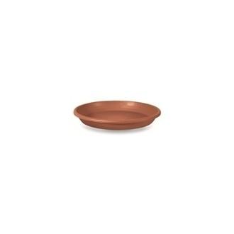 Sottovaso Cilindrico in Plastica Dm 65 color Terracotta