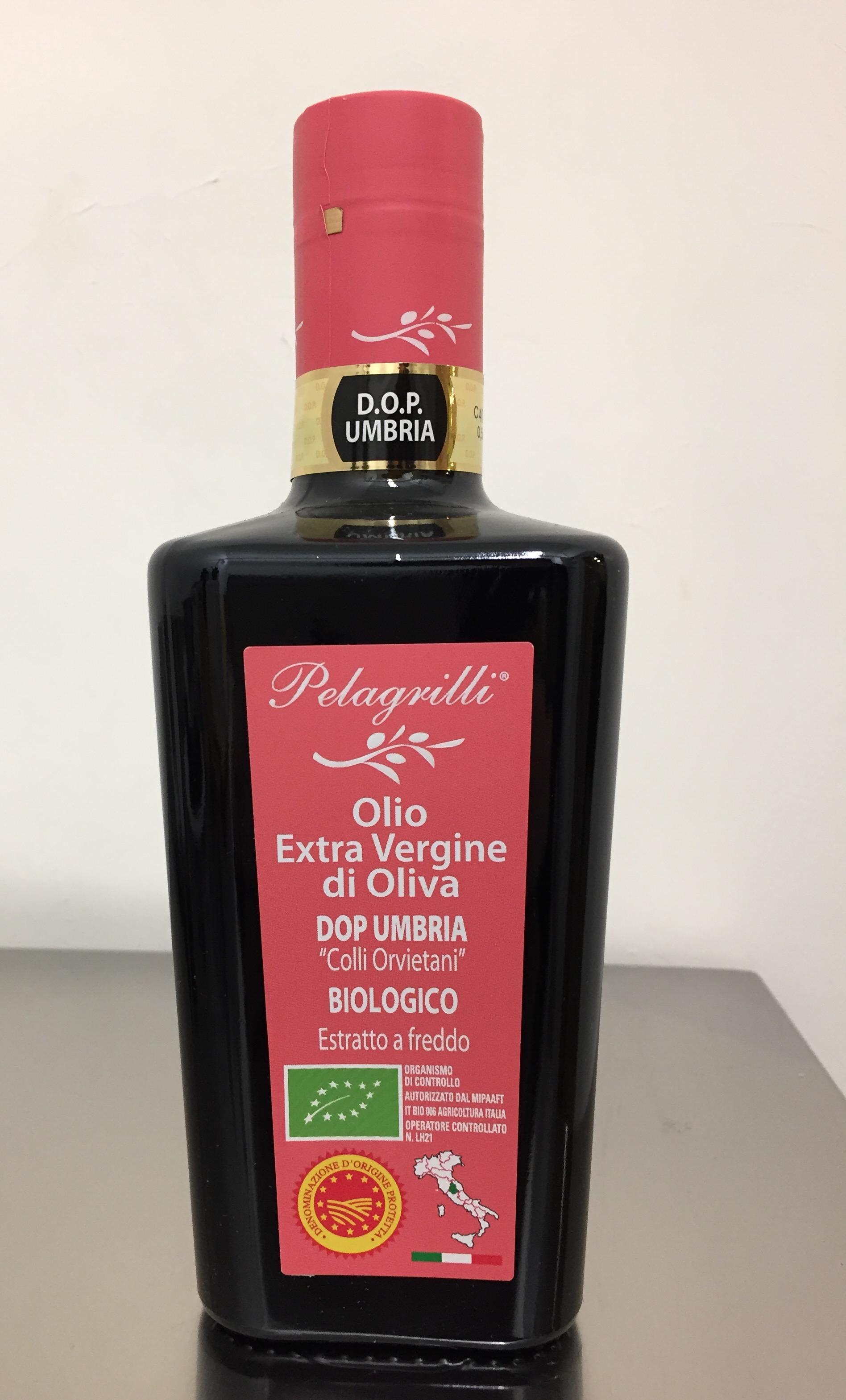 DOP UMBRIA Colli Orvietani BIOLOGICO Nuovo Raccolto 2019-2020 olio extra vergine di oliva Italiano estratto a freddo lt. 0,5