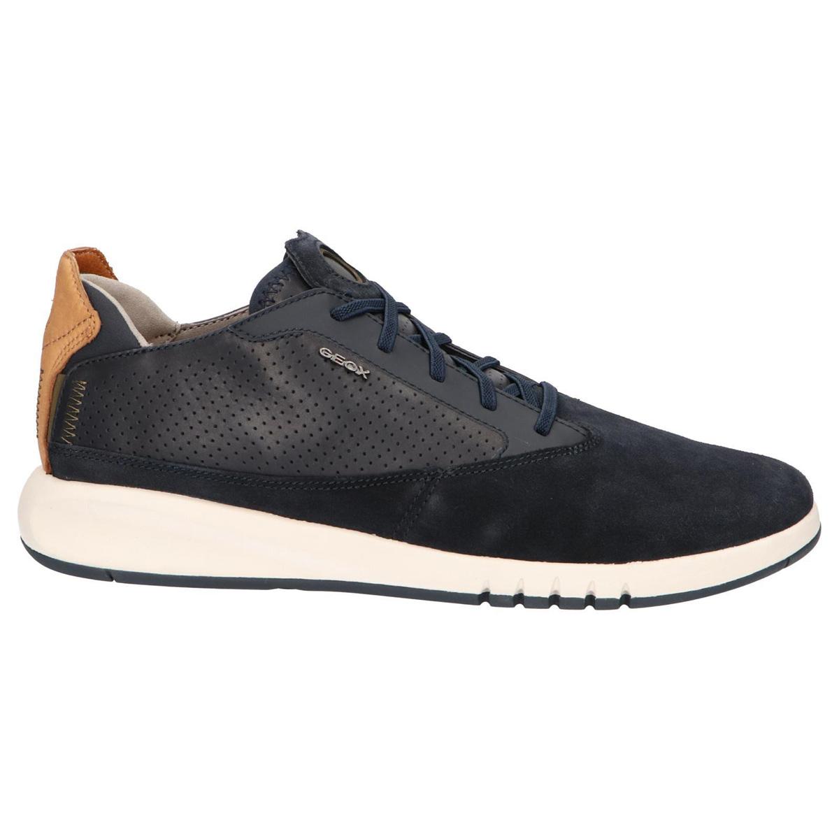 Sneakers Geox Aerantis in pelle e camoscio blu