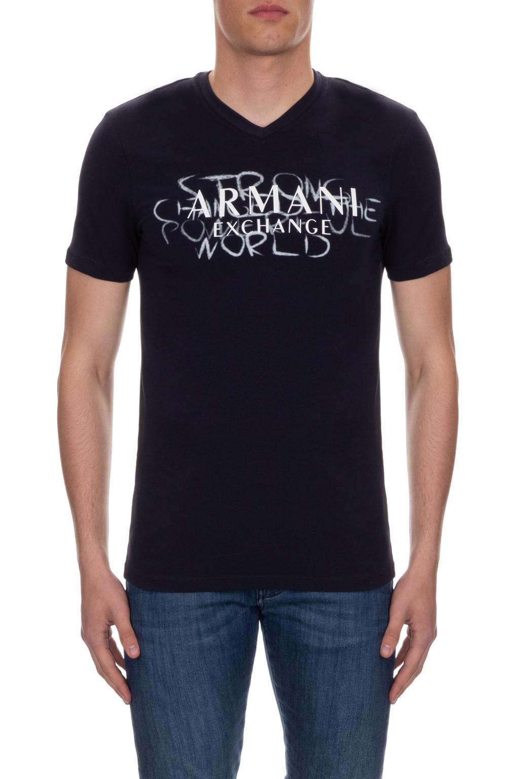 T-shirt manica corta uomo collo v scritte ARMANI EXCHANGE