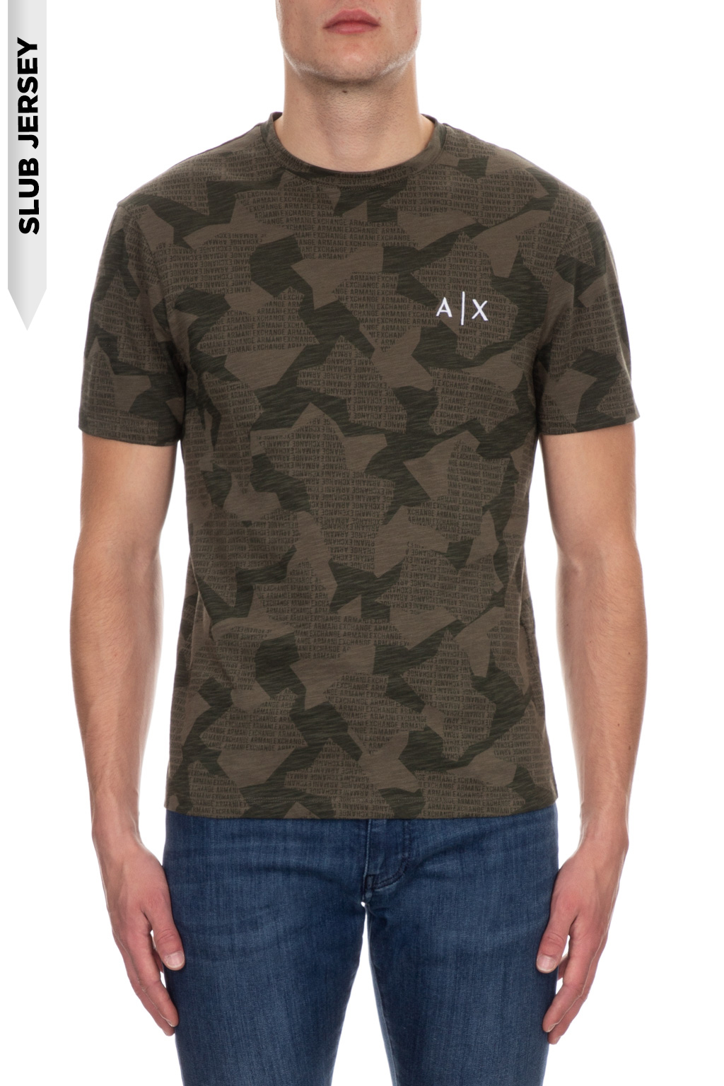 T-shirt manica corta uomo militare camo ARMANI EXCHANGE