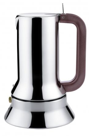 ALESSI CAFFETTIERA ESPRESSO DA 6 TAZZE IN ACCIAIO INOX 18/10 FONDO MAGNETICO DESIGN RICHARD SAPPER ADATTA ALL'INDUZIONE 9090/6