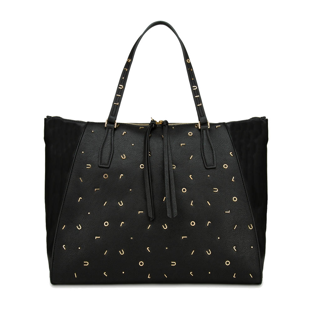 Shopping bag con applicazioni metalliche logate - LIU JO