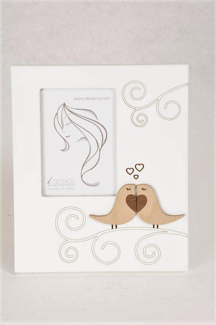 Portafoto Legno Bianco Amorini 7x10 cm