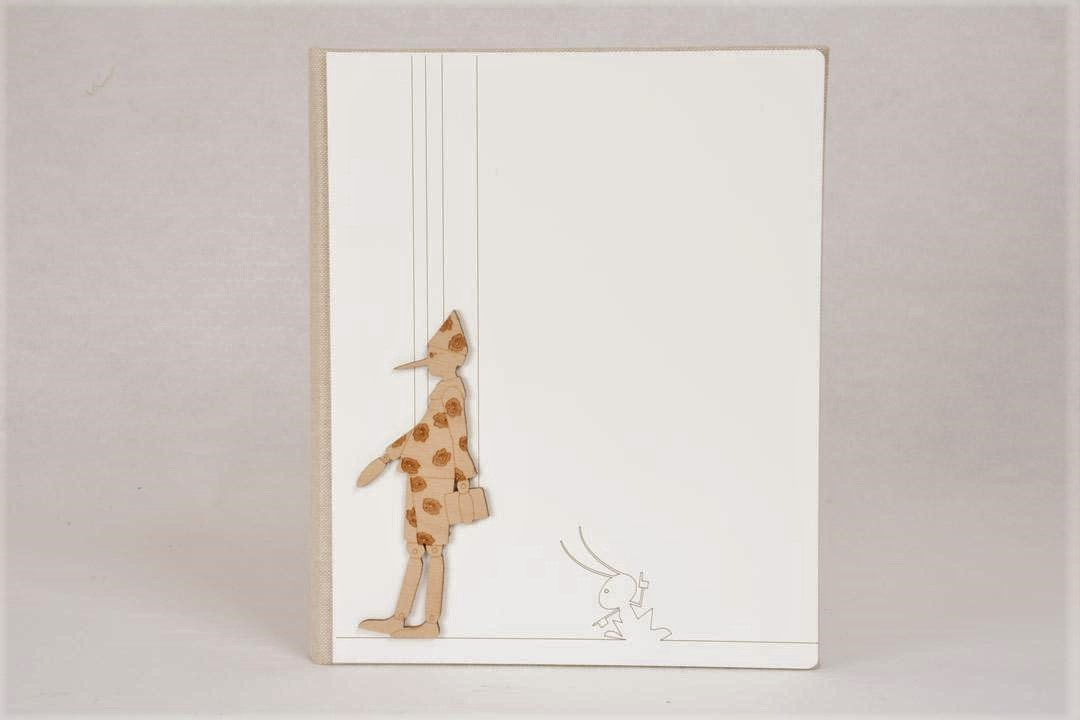 Album Fotografico Legno Bianco Pinocchio 20x20 cm
