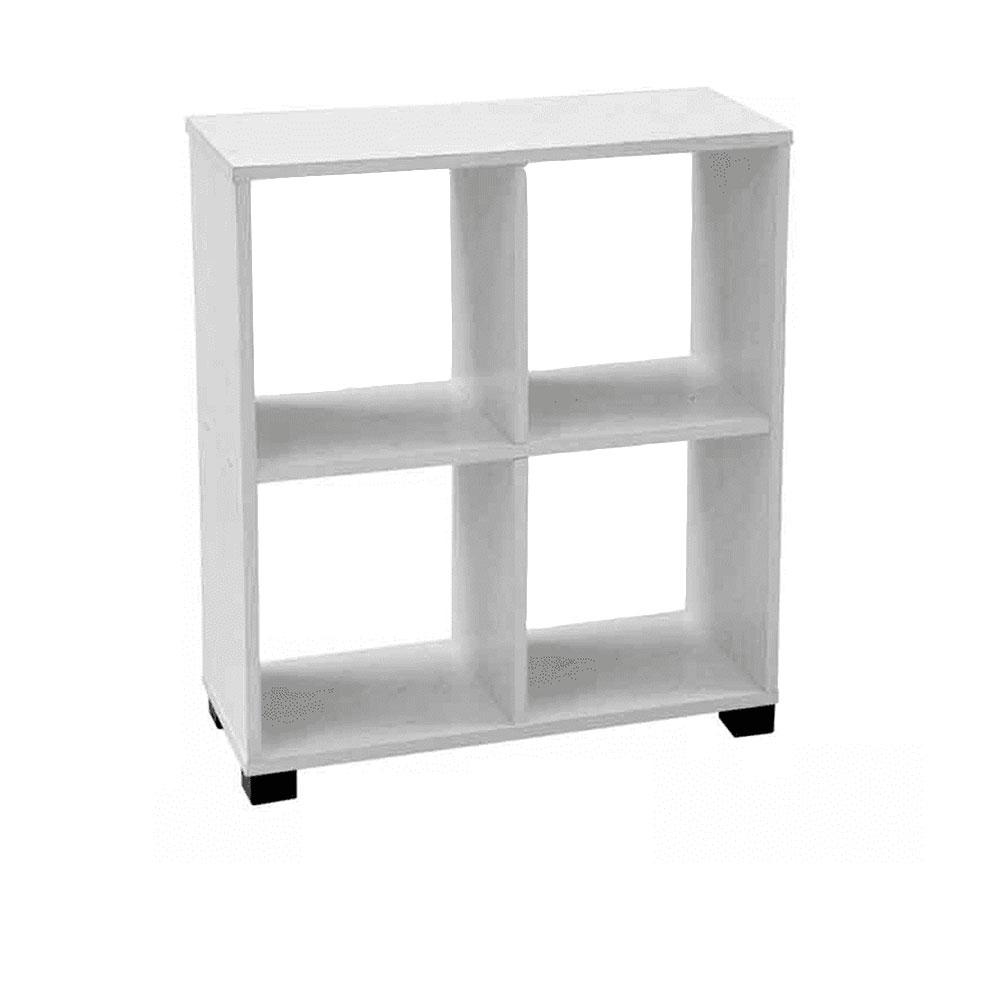 Gicos Scaffale Cubo Bianco Legno 60x24x68