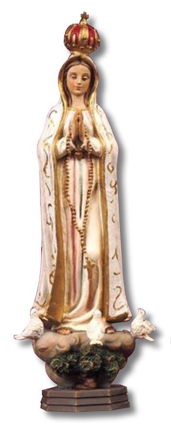 Statua Madonna Fatima cm. 20