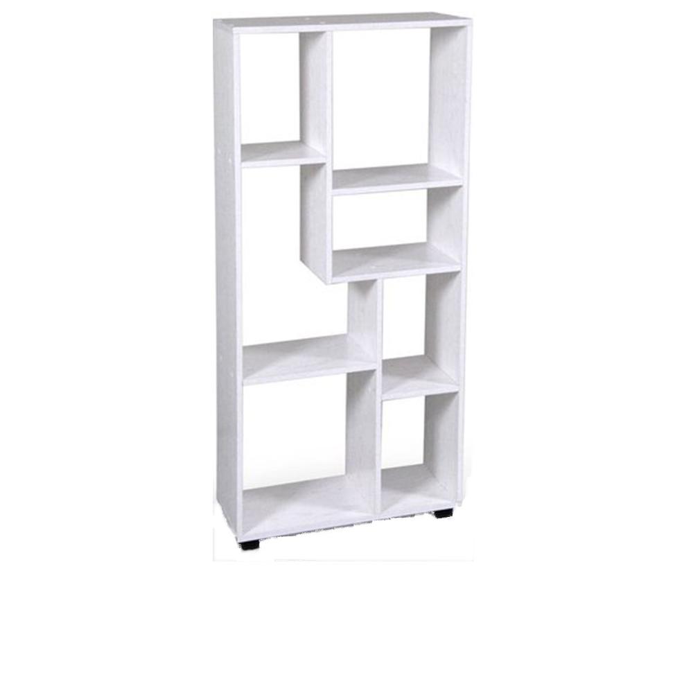 Gicos Scaffale Legno Bianco 60x24x126,5cm