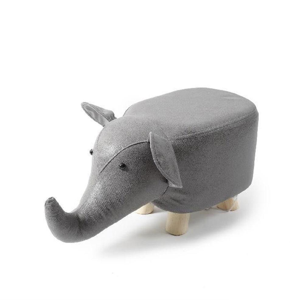 Mercury Puffo Elefante in Tessuto con Piedi in Legno 58X26X26cm