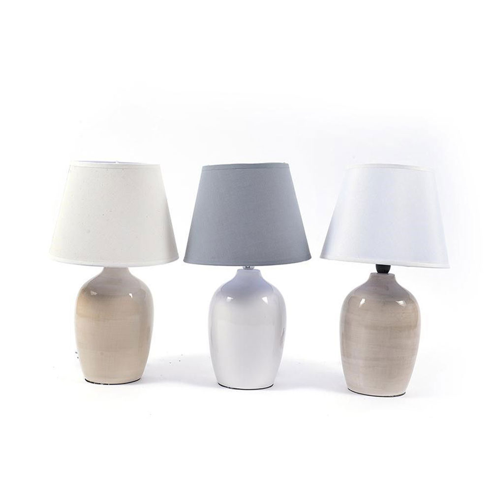 Mercury Lampada con base in Ceramica colori assortiti