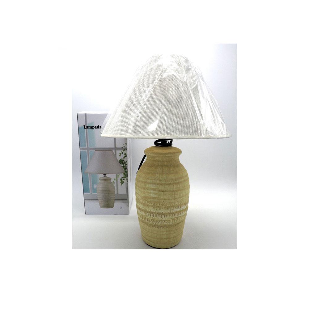 Creare Lampada Bombata Ceramica Beige