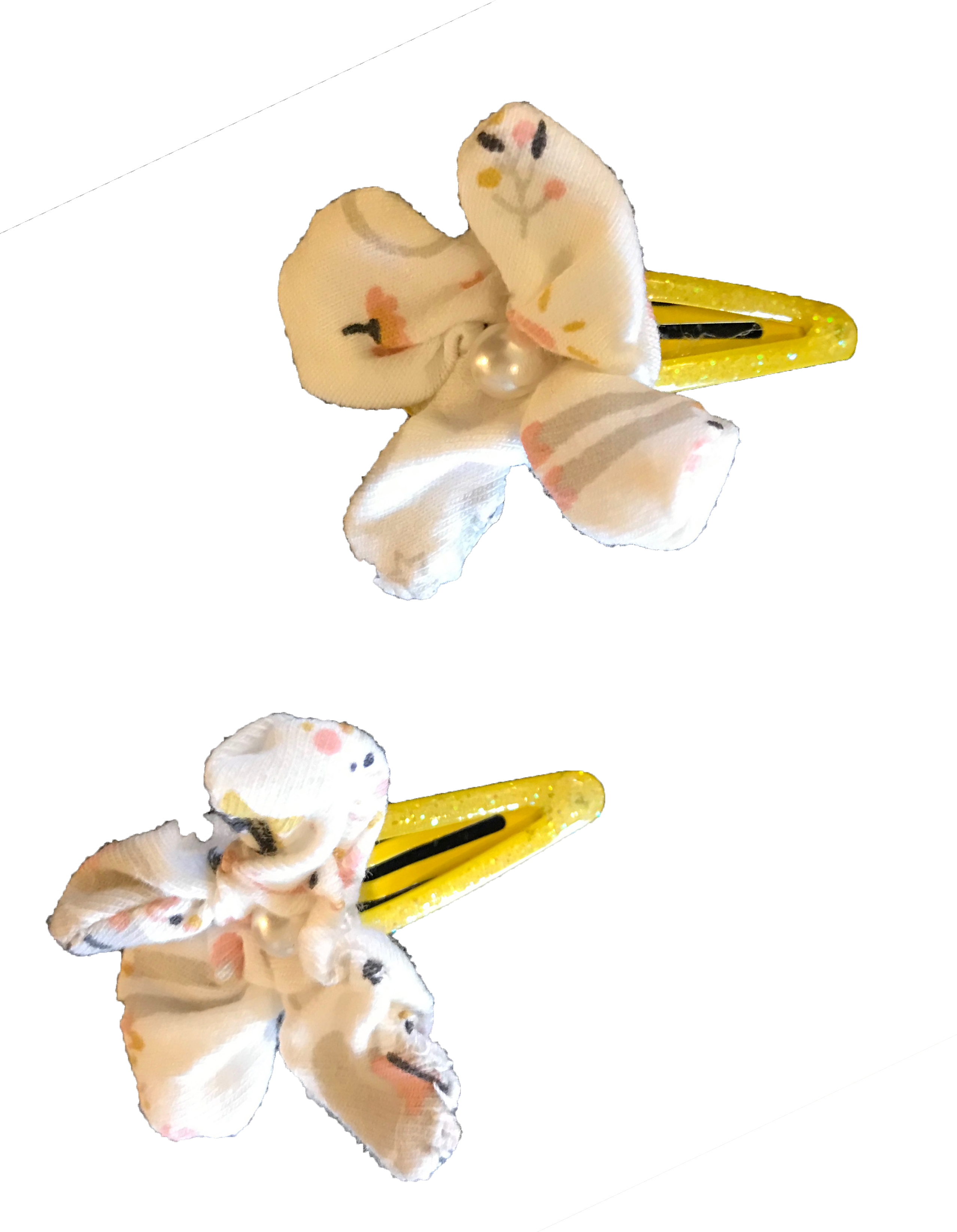 Ballerina- Set di mollette gialle