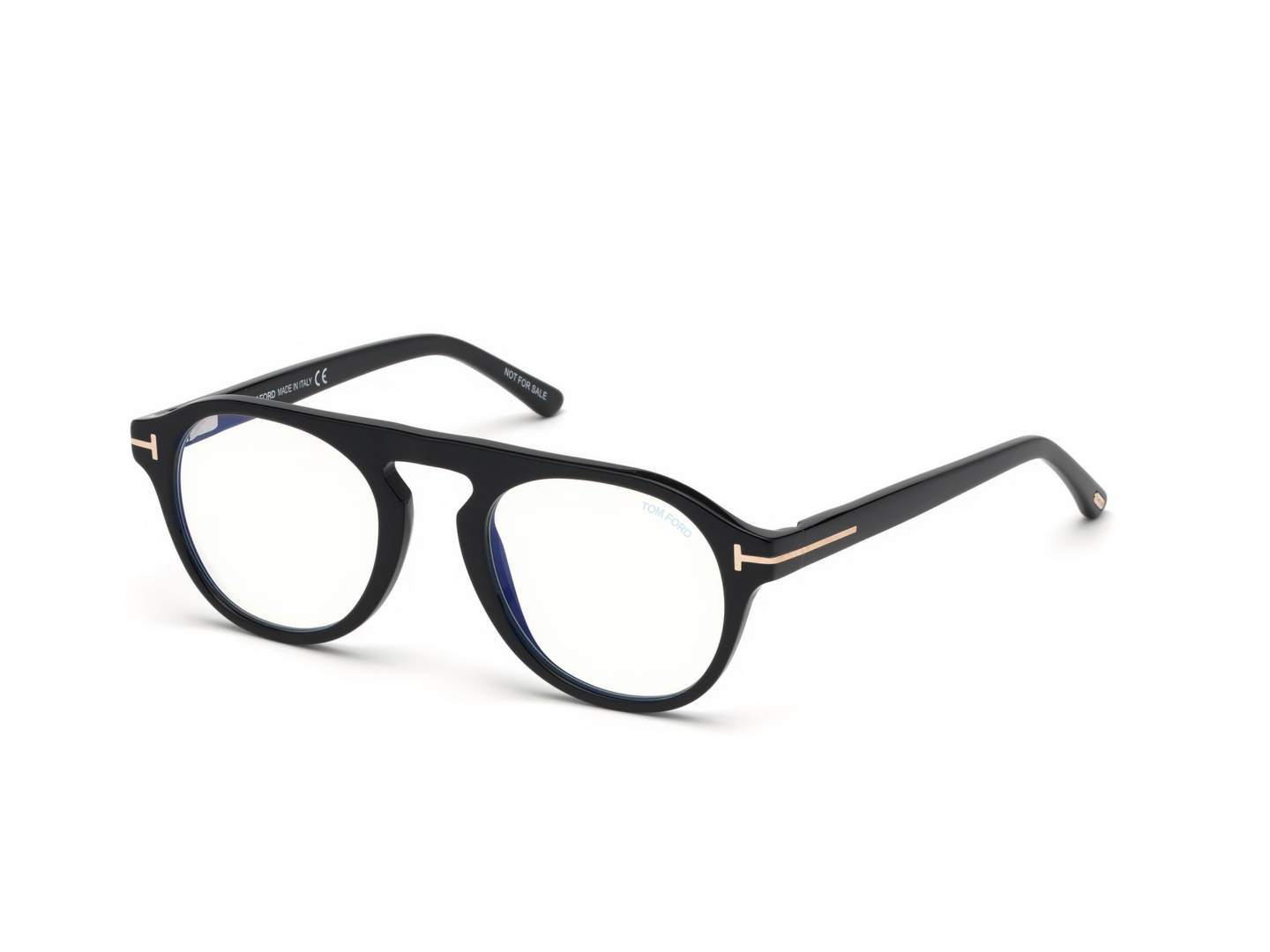 Tom Ford - Occhiale da Vista Uomo con Clip On da Sole, Matte Black/ Dark Blue Shaded FT5533-B  01V  C49