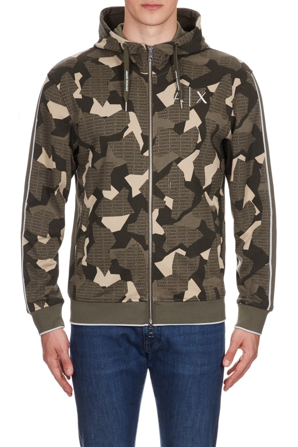 Felpa camouflage full zip cappuccio uomo ARMANI EXCHANGE