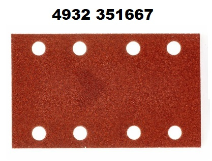 10PZ CARTA ABRASIVA 80X133 GR80