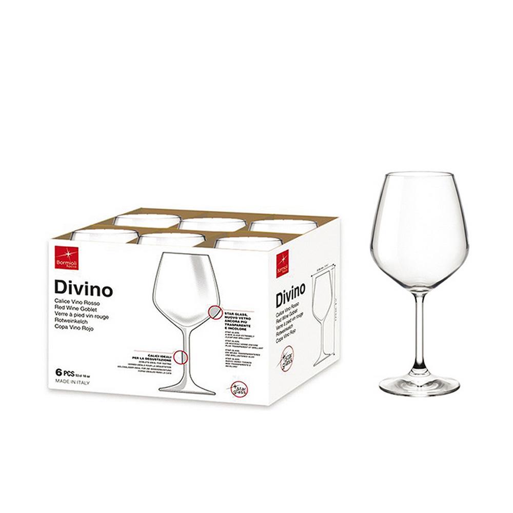 Bormioli Bicchiere Calice Vino Divino 6 pezzi