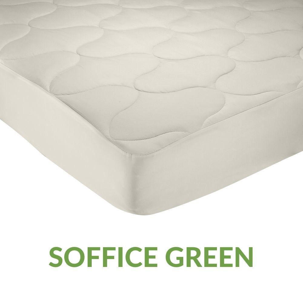 Coprimaterasso Double Face, 100% Microfibra con Tessuto Traspirante e Antiacaro   SOFFICE GREEN