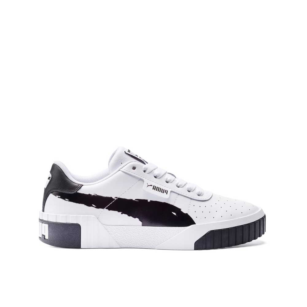Puma Cali Brushed White Black da Donna