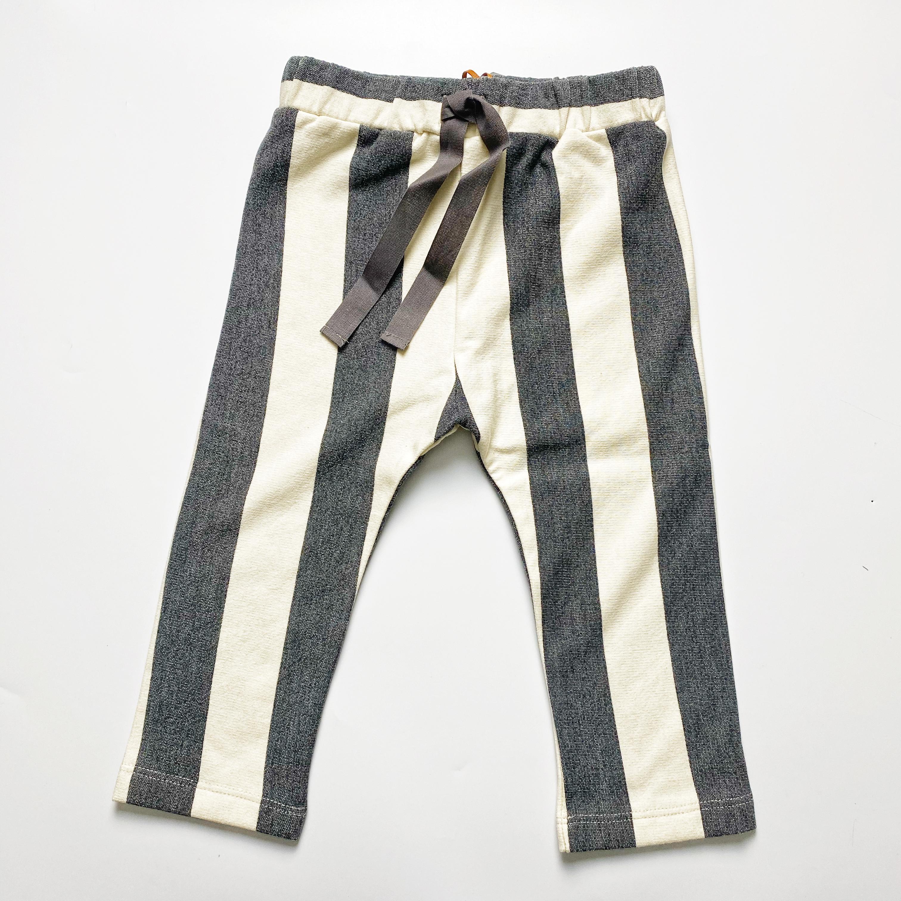 Pantalone lungo in felpa a righe antracite