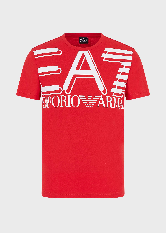 T-shirt uomo EA7 in jersey con maxi-logo