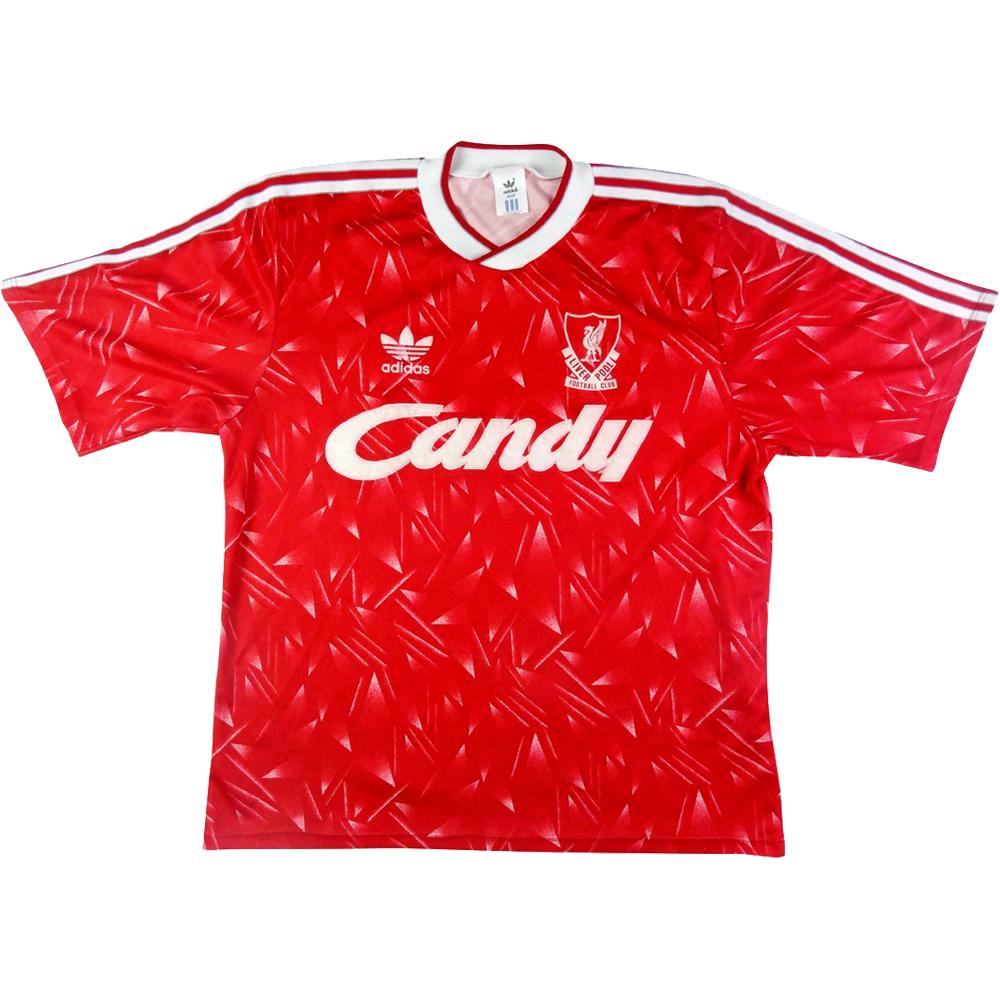 1989-91 Liverpool MAGLIA HOME L